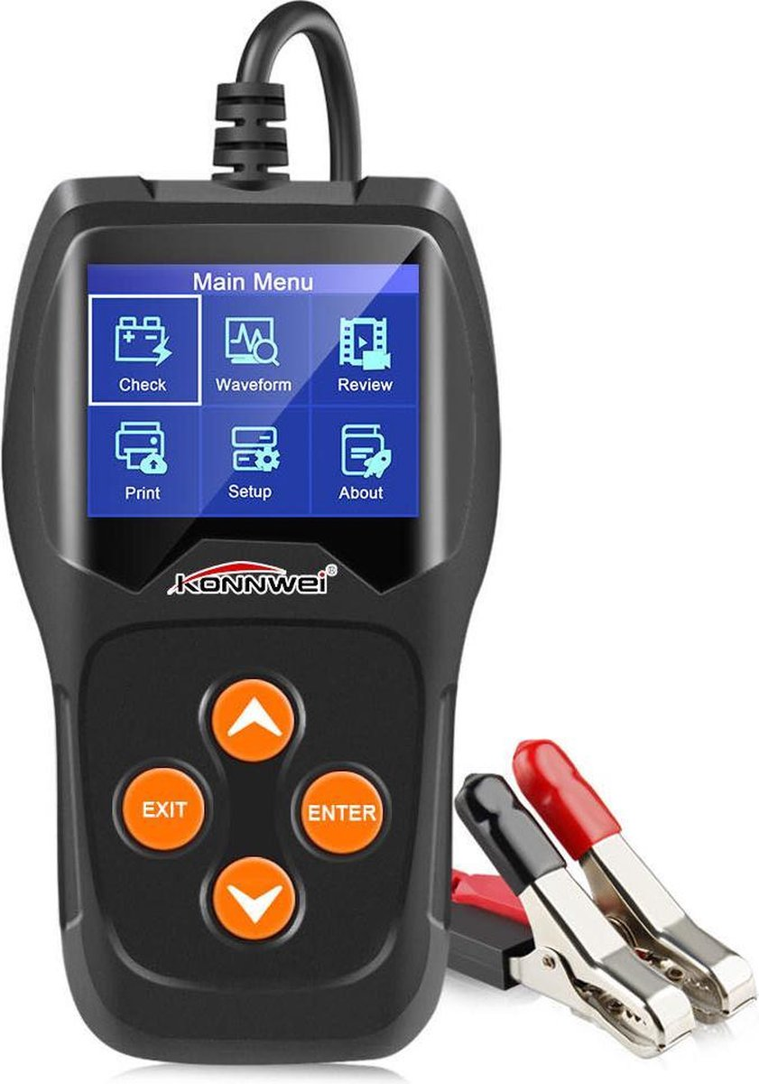 Professionele Auto & Motor Accu Batterij tester 12V KW600