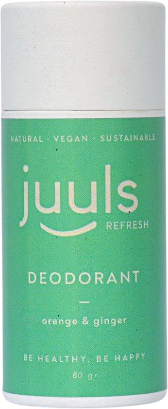 Juuls Care Vegan Deodorant - Orange & Ginger - Zonder Aluminium - 100% Natuurlijk - Halal - Papieren Koker - 60 gr