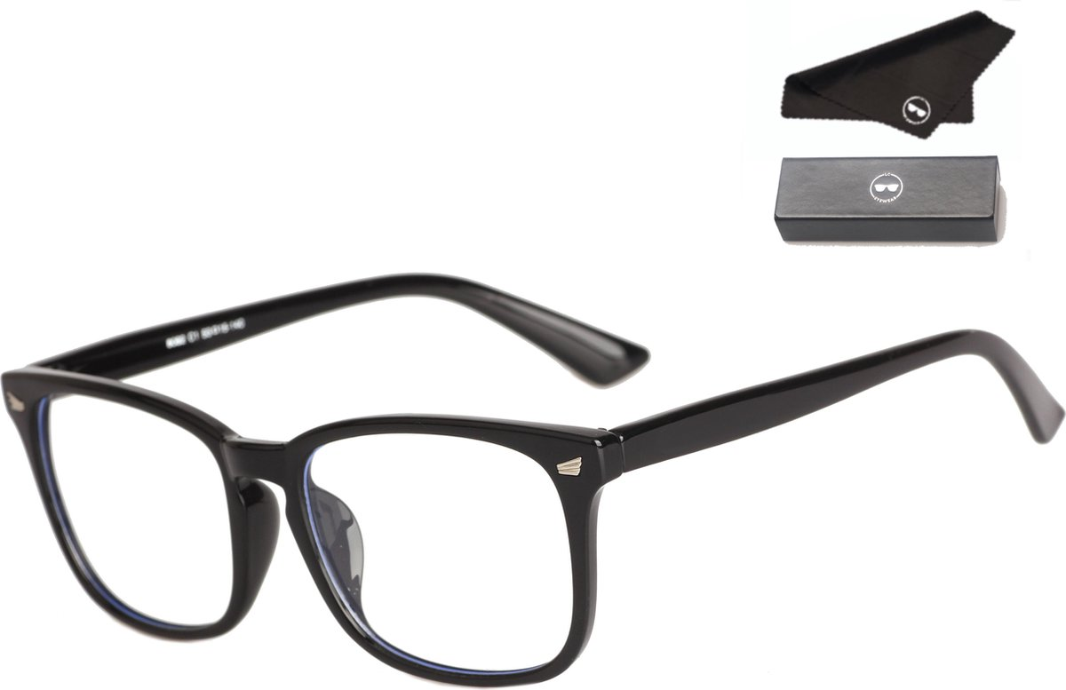 LC Eyewear Computerbril met Blauw Licht Filter - Design - Blue Light Glasses - Unisex - Zwart