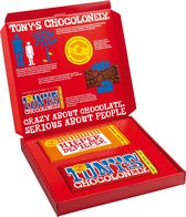 "Tony's Chocolonely Cadeaudoos - Chocoladecadeau  met ""Hieperdepieper"" + Melk Chocolade Reep"