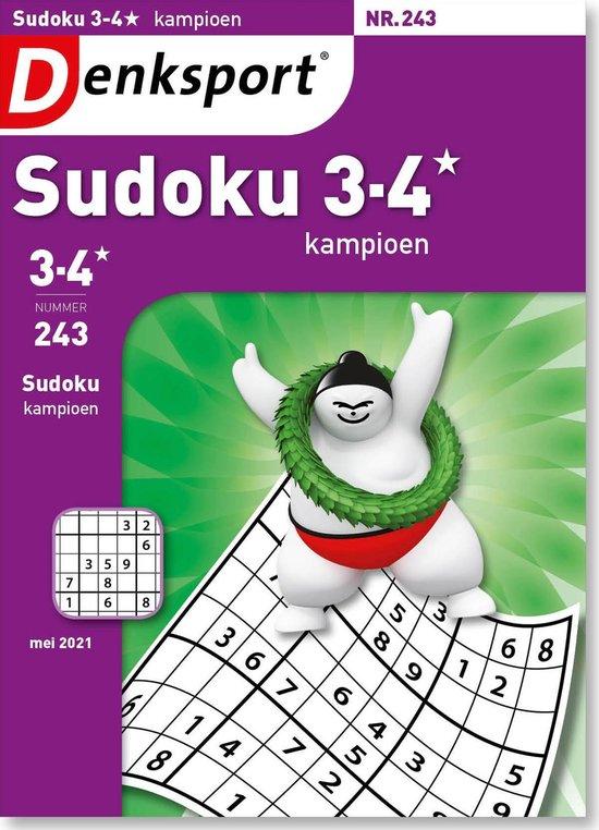Afbeelding van Denksport Puzzelboek, Sudoku 3-4* kampioen, editie 243