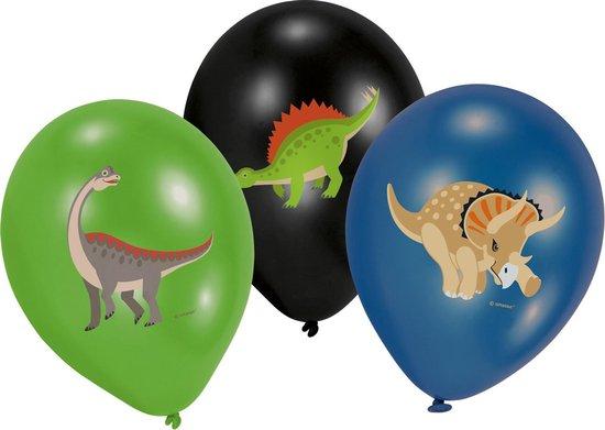 AMSCAN - 6 latex Grote Dinosaurus ballonnen - Decoratie > Ballonnen