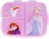 Frozen lunchbox - met 4 vakken! - Anna, Elsa en Olaf broodtrommel