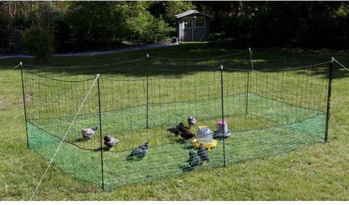 iBought Kippenomheining 12 meter - Kippennet - Kippenren Net - Pluimveenet - Dierenafrastering - Die