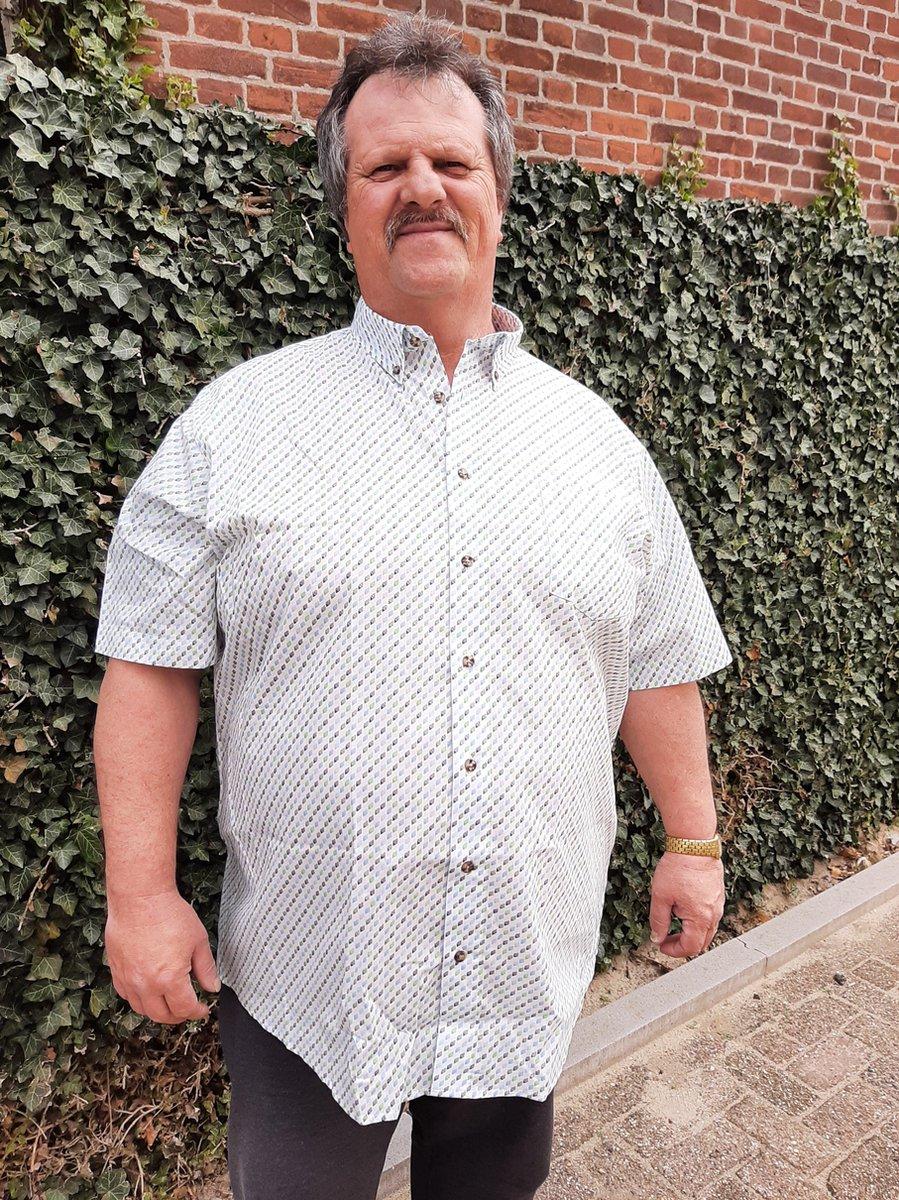 GCM Henderson Overhemd Wit Korte mouw Maat 4XL BIG MEN SIZE