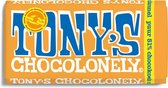 NIEUW Tony's Chocolonely Puur Citroenkaramel Chocokoek Chocolade Reep - 180 gram
