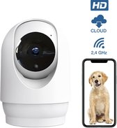 Wifi Camera Beveiliging - Binnen - Beveiligingscamera- Hondencamera – Huisdier - Dog - met App - Wit