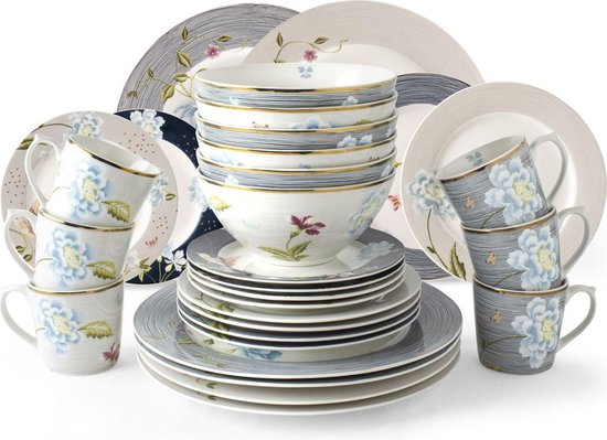Laura Ashley Heritage Collectables Serviesset 30 delig Assorti (6 persoons)