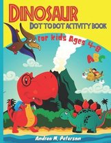 Dinosaur Dot to Dot Activity Book for Kids Ages 4-8