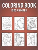 Coloring Book Kids Animals
