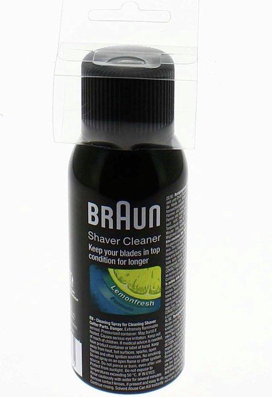 Braun Reinigingsspray voor scheerapparaten - Grijs