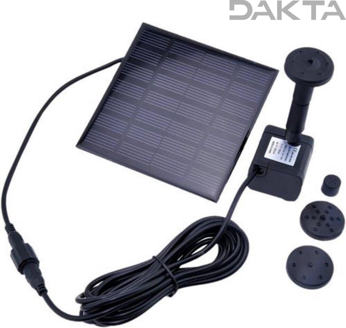 Dakta® Fontein | Zonne-energie | Tuin | Waterpomp | Vijver | Vogelbad | Drijvend | Solar | Decoratie | Tuindecoratie | Duurzaam