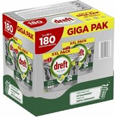 Dreft Platinum All in One - GIGA PAK 180 stuks - Vaatwastabletten