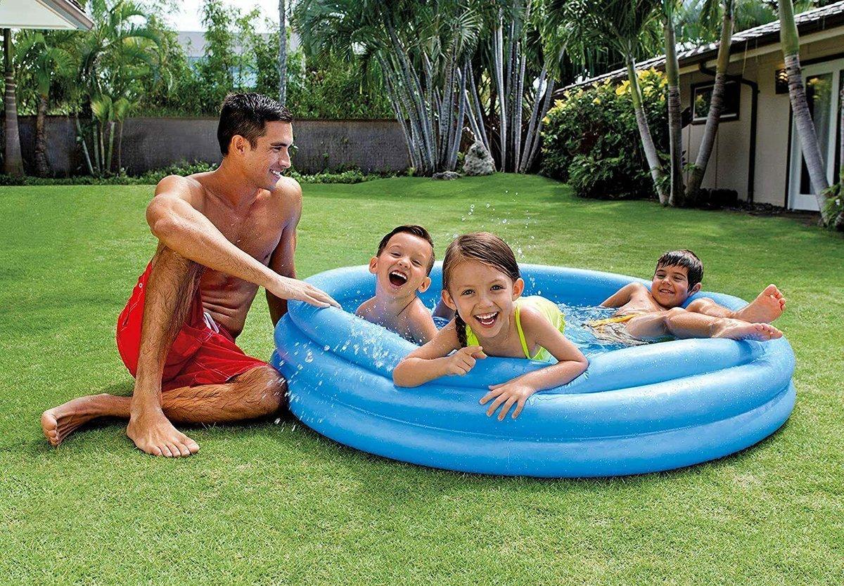Intex opblaaszwembad - Zwembad kinderen Watermeloen 168 x 38 cm rood/groen