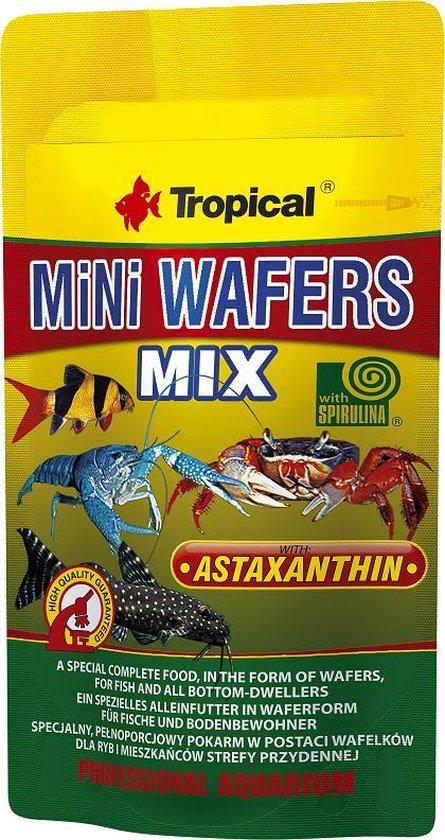 Tropical Mini Wafels Mix | 18 gram | Aquarium Visvoer