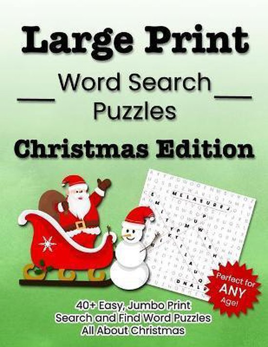 Large Print Word Search Puzzles Christmas Edition