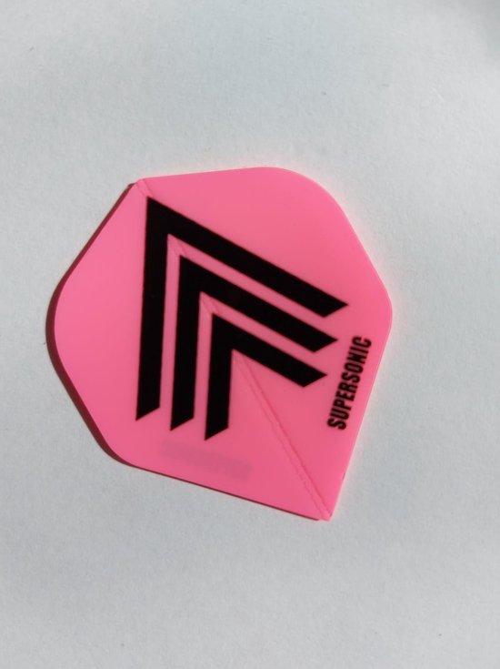 Afbeelding van het spel Supersonic fluor Dart Flights - 10 sets (30 stuks) - 100 micron dik