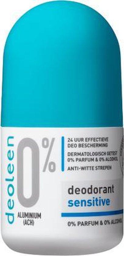 Deoleen 0% aluminium - Deodorant - Roller Sensitive - 50 ml