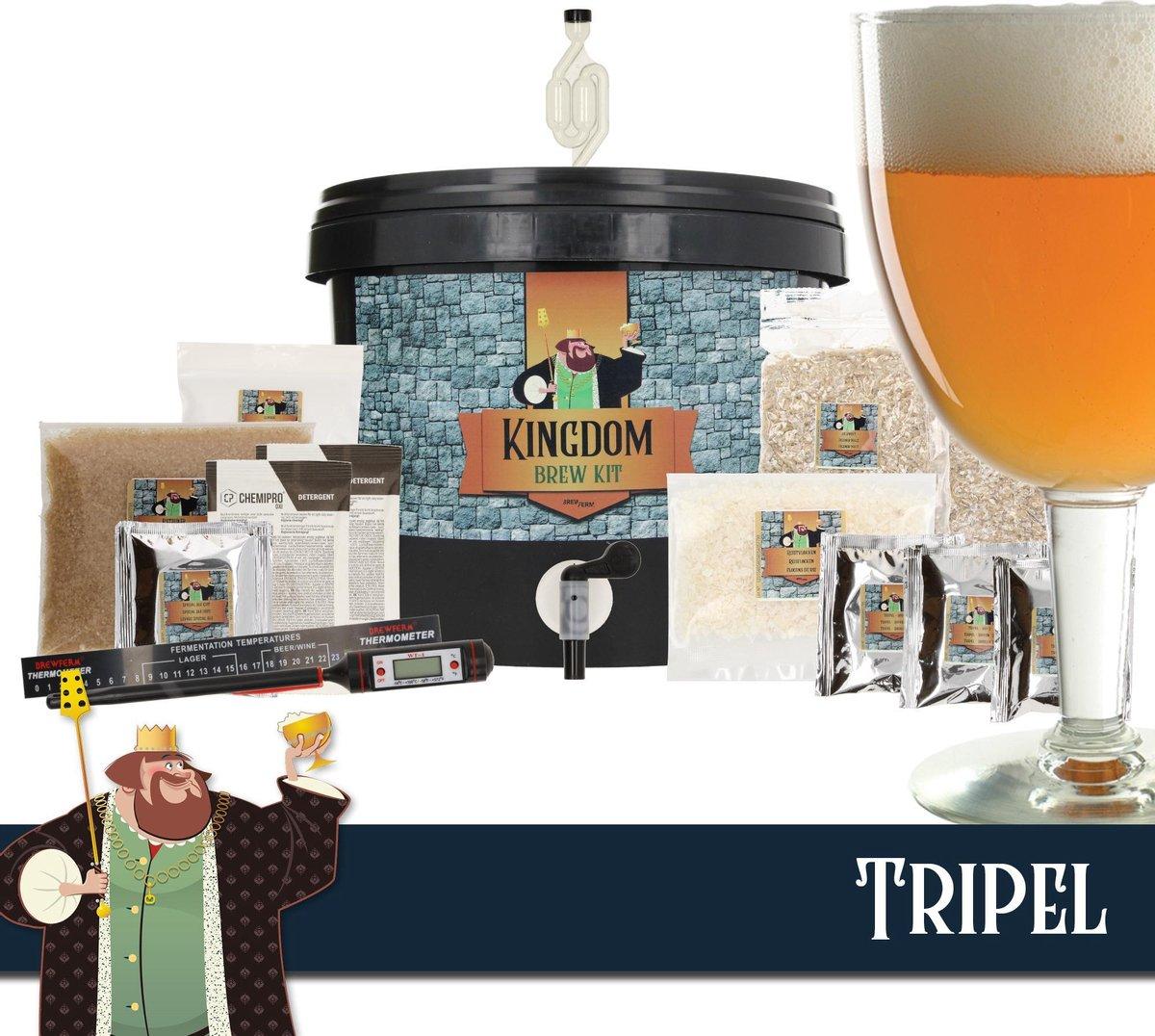 KINGDOM Bierbrouwpakket  - Startpakket - Tripel - zelf bier brouwen - starterspakket bier brouwen -