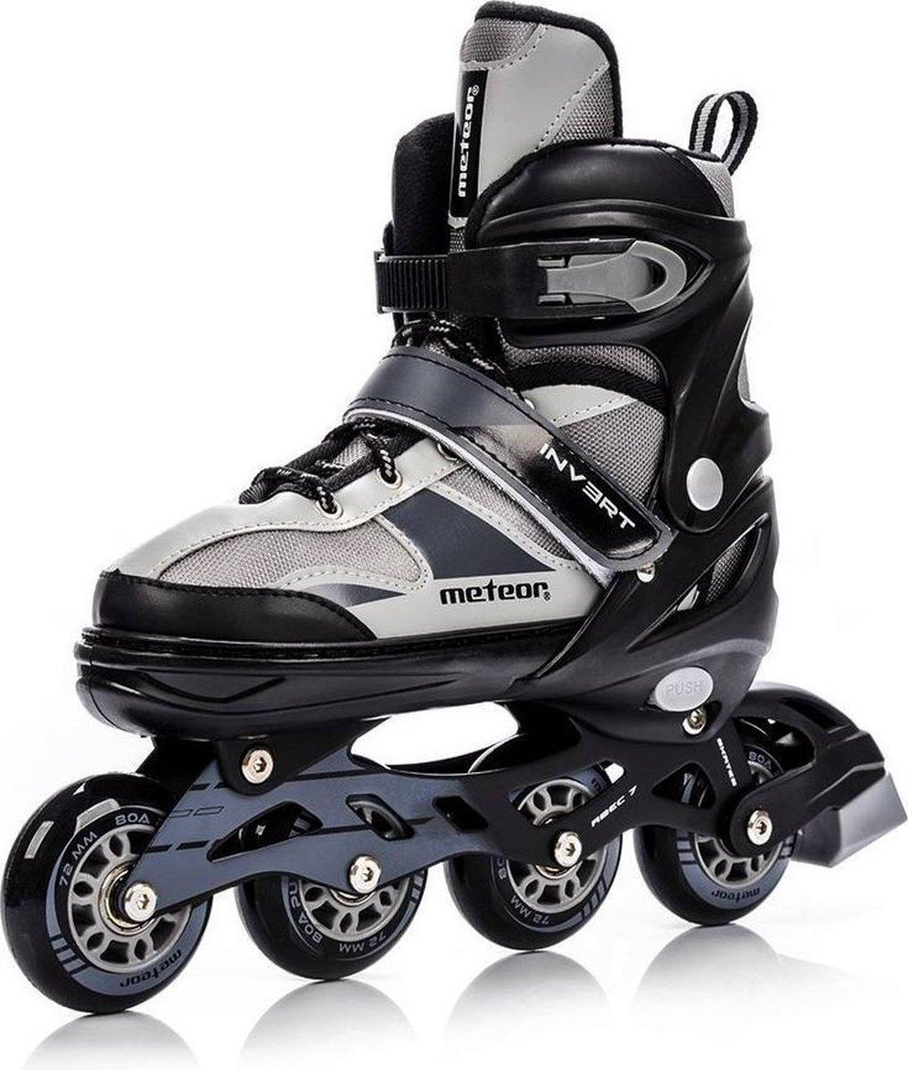 Meteor * skeelers * inline skates * kleur/zwart/grijs* maat 34-37 verstelbaar*