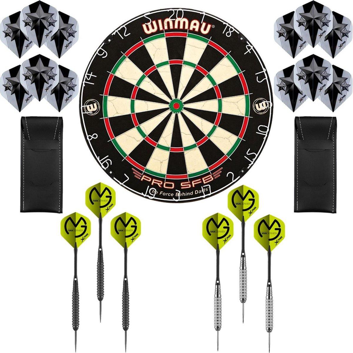 Dragon Darts Michael van Gerwen Precision set - dartbord - dartpijlen - dart shafts - dart flights - Winmau PRO SFB