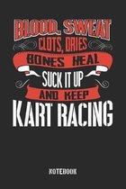 Blood Sweat clots dries. Shut up and keep Kart Racing