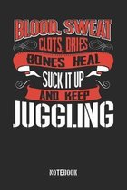 Blood Sweat clots dries. Shut up and keep Juggling