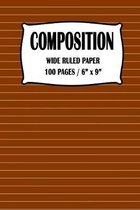 Composition Wide Ruled Paper Notebook