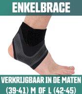 AVE Body Enkelbrace  - Maat L - Links - Extreem dunne Ankle Strap 1mm – Biedt Ondersteuning & Vermindert Pijn – Ademend Neopreen – Duurzaam Elastische Enkelbandage Voor Alle Sporten– Enkelband
