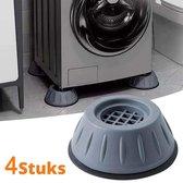 Wasmachine Demper - Trillingsdemper - Anti Slip Trilmats - Schokdemper - 4 Stuks Anti Tril Poten - - Grijs
