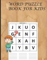 Word Puzzle Book for Kids