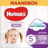 Huggies Ultra Comfort Luierbroekjes - maat 5 (12 tot 17 kg) - 128 stuks - Maandbox