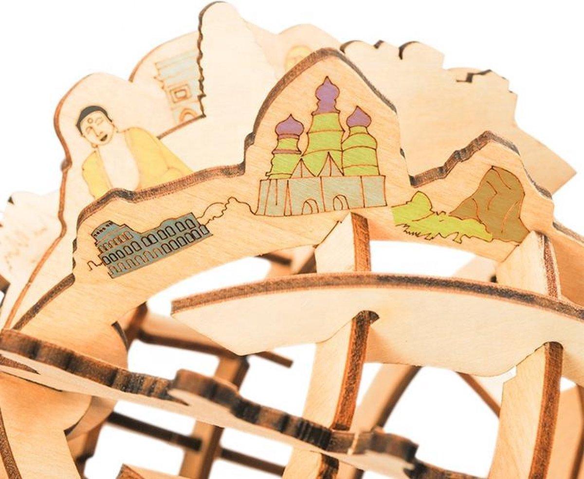 Bouwpakket Globe Solar op Zonne-energie van hout