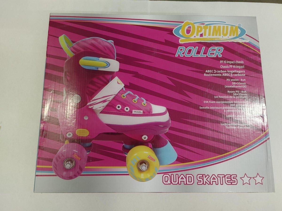 Optimum Roller - Verstelbare Quad skates roze maat 36-39 - Rolschaatsen