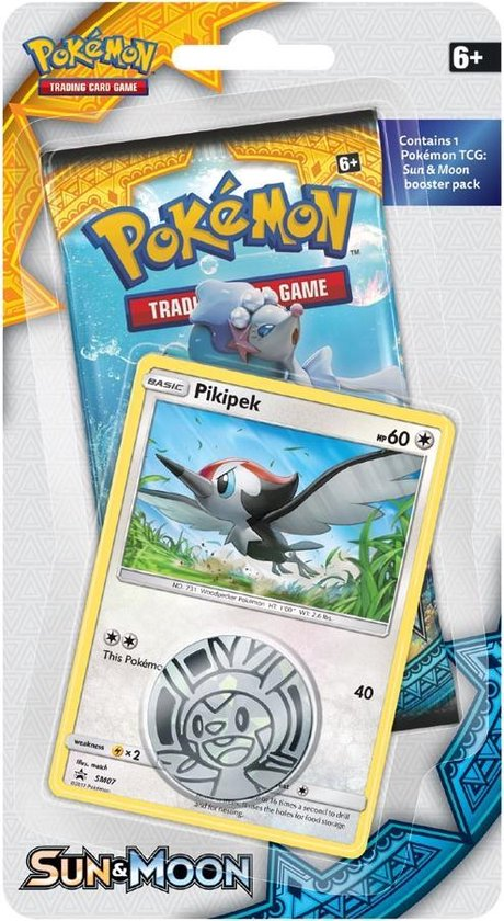 Afbeelding van het spel Sun & Moon: Checklane Blister Pikipek Pokemon