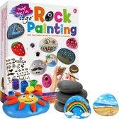 Afbeelding van Stenen Schilderen - Happy Stones maken - Rock Painting Pakket - Complete Startset met steentjes - Dotting - stippen Mandala - HappyStone keien beschilderen speelgoed