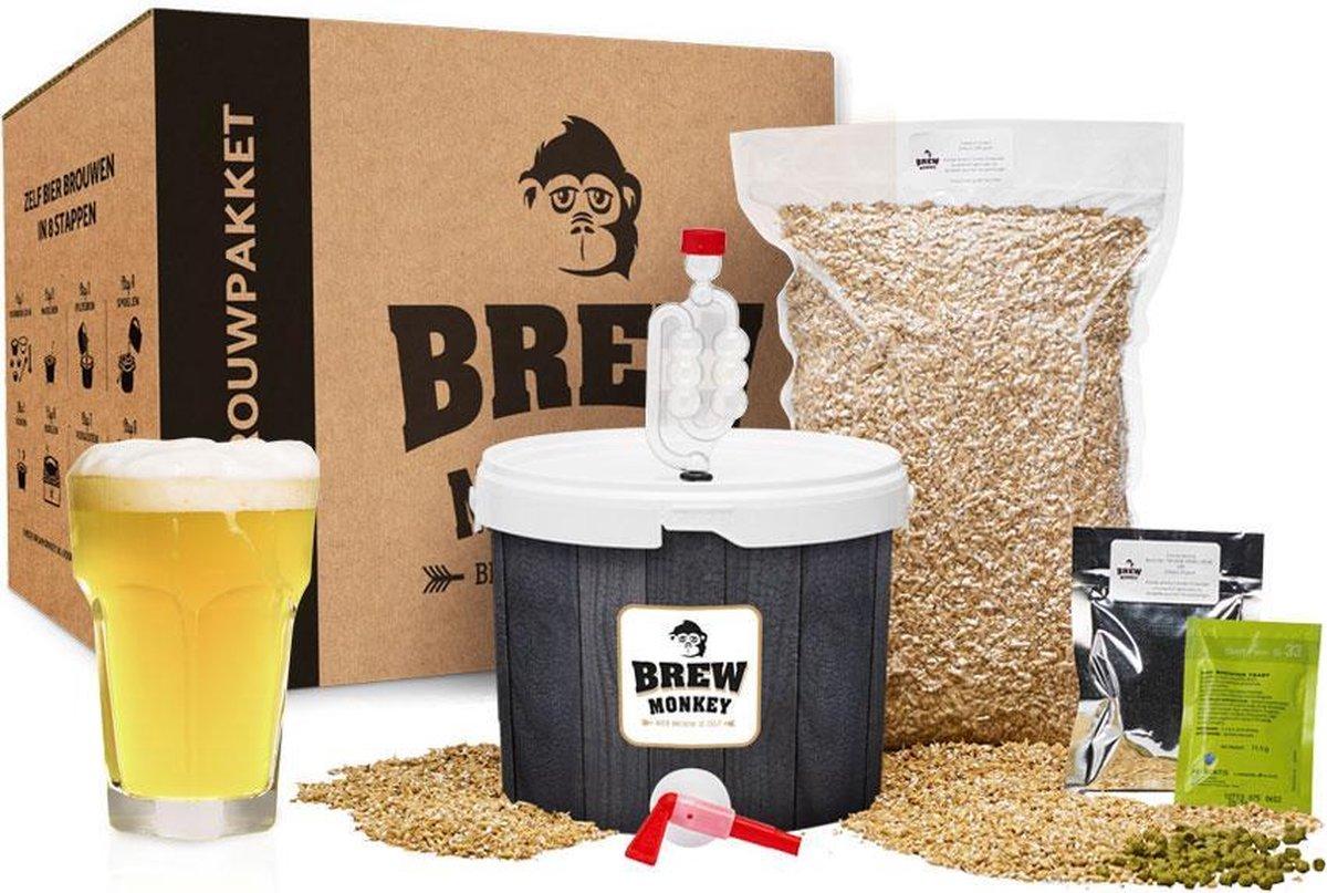 Brew Monkey Bierbrouwpakket - Basis Wit - Bier brouwen startpakket
