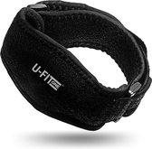 U Fit One® 1 Stuk Elleboog Brace - Elleboogbrace - Tennisarm Brace - Arm Brace - Tenniselleboog - Golfarm - Tennis Elbow - Fitness - ufitone - Zwart