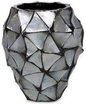 Schelpenvaas - Mother of pearl Zilver - 24cm