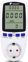 Energiemeter - Verbruiksmeter - Energieverbruiksmeter - Elektriciteitsmeter - Energiekostenmeter - Stroommeter - Stopcontact - Milieuvriendelijk - Wit