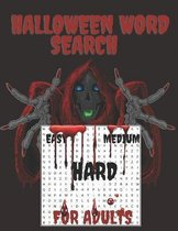Halloween Word Search For Adults
