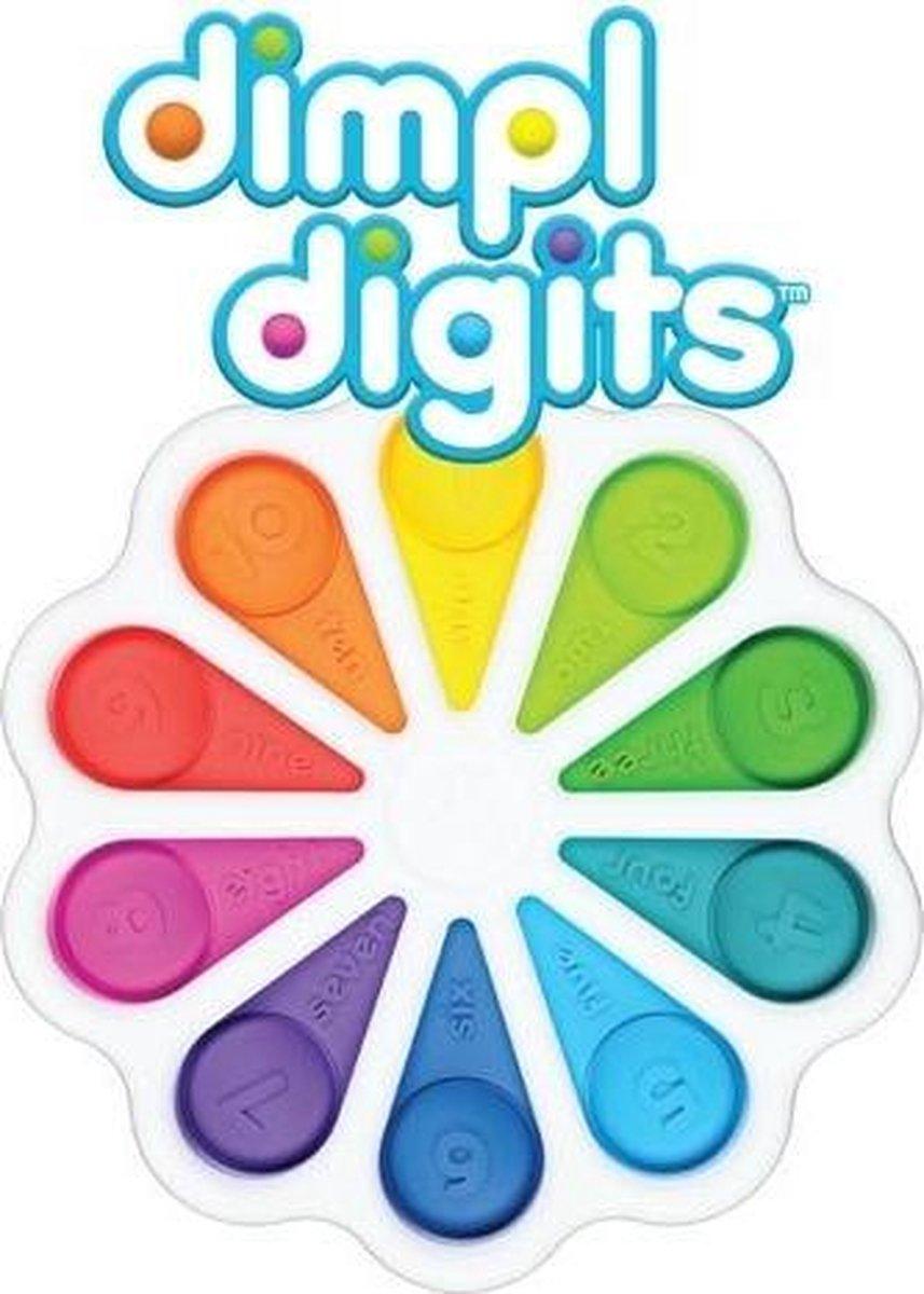 Dimple Digits- Fidget Toys- Simple Dimple- met telbare stipjes - Wit