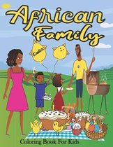 African Family Easter Coloring Book for Kids