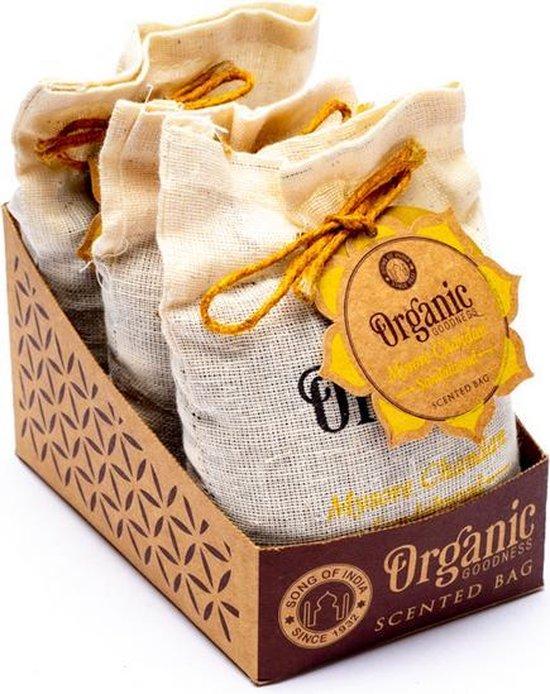 Organic Goodness Sandelhout geurzakje 3 stuks Mysore Chandan