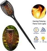 Solar Tuinfakkel met sensor – Tuinverlichting op zonne-energie – Buitenverlichting