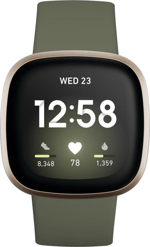 Fitbit Versa 3 - Smartwatch - Olijfgroen