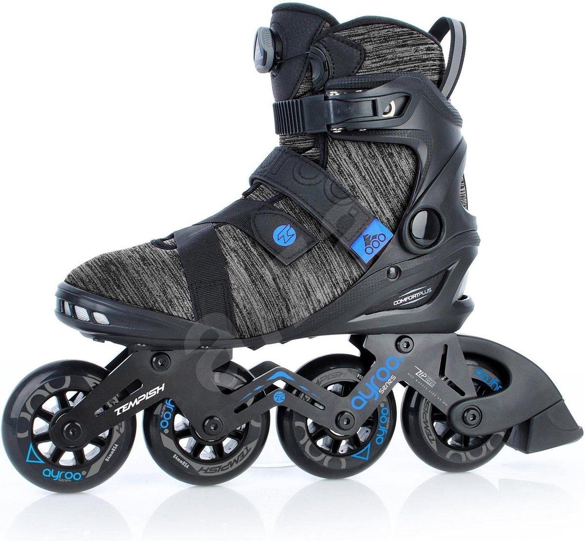 Tempish Inline skate Ayroo Top 84 Zwart- Blauw - Maat 44