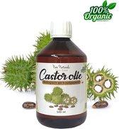 Castor Olie 500 ml - Koudgeperst en ongeraffineerd - Biologisch - Puur - Haar, huid en wimpers - Wimperserum - Pure Naturals