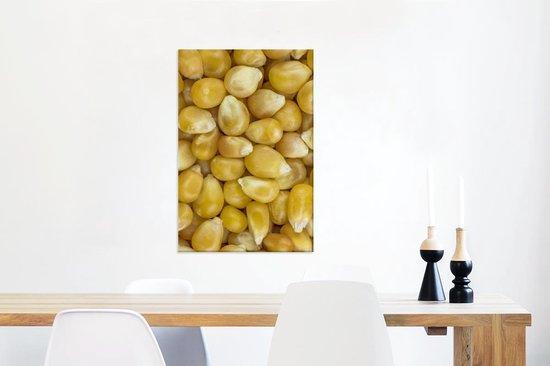 Close-up van suikermaïs Canvas 60x90 cm - Foto print op Canvas schilderij (Wanddecoratie woonkamer / slaapkamer)