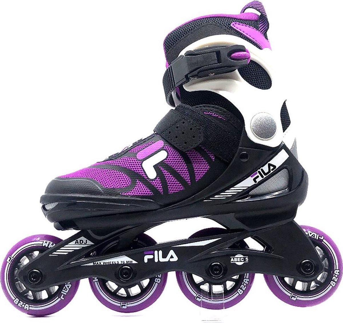 Fila - Verstelbare inline skates - J one - 21' - Maat 28-32 - Magenta - Zwart